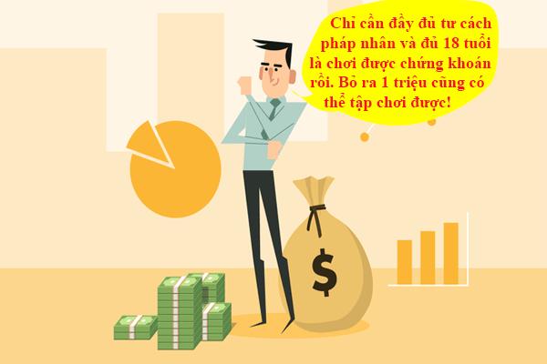 Điều kiện mở tài khoản chứng khoán rất đơn giản