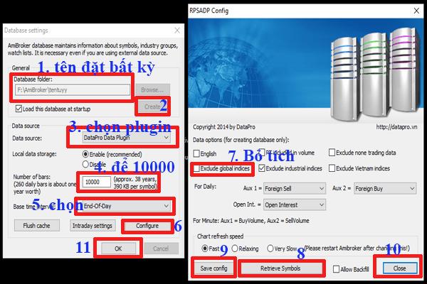 add dữ liệu EOD của datapro cho amibroker