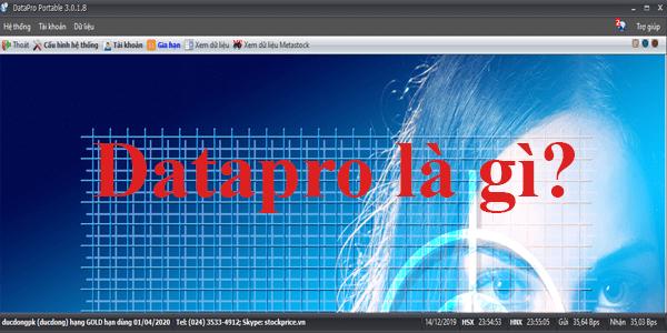 Giao diện của phần mềm lấy dữ liệu cho Amibroker Datapro