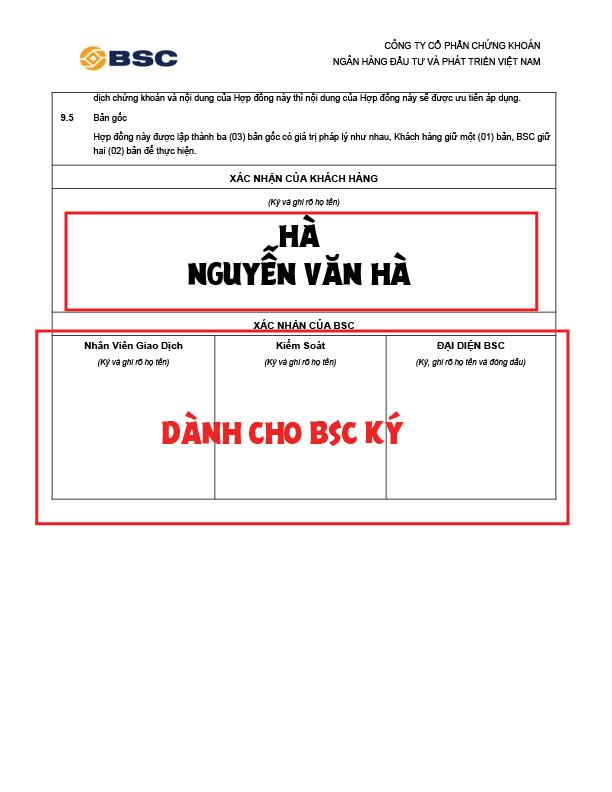 Cách ký vào hồ sơ mở tài khoản chứng khoán phái sinh trang 7