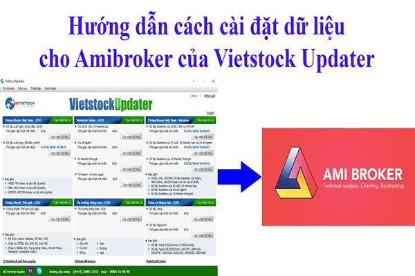 hướng dẫn cách cài đặt dữ liệu Amibroker Vietstock Updater