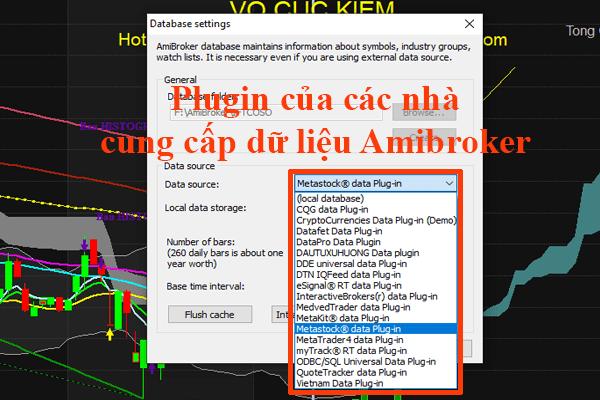 Lựa chon Plugin không đúng cũ sẽ làm lỗi Amibroker không cập nhật dữ liệu