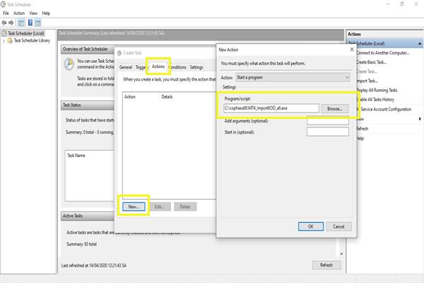 Thiết lập Actions để cập nhật dữ liệu chứng khoán cho MT4 tự động